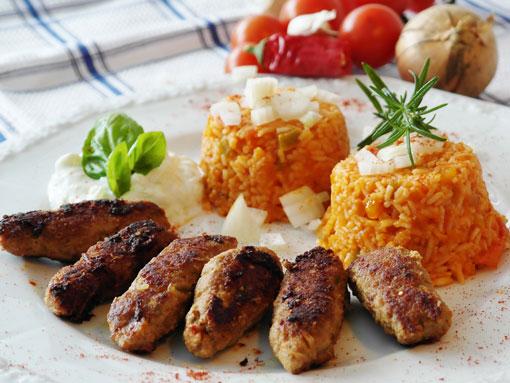 O prato tradicional de carne picada