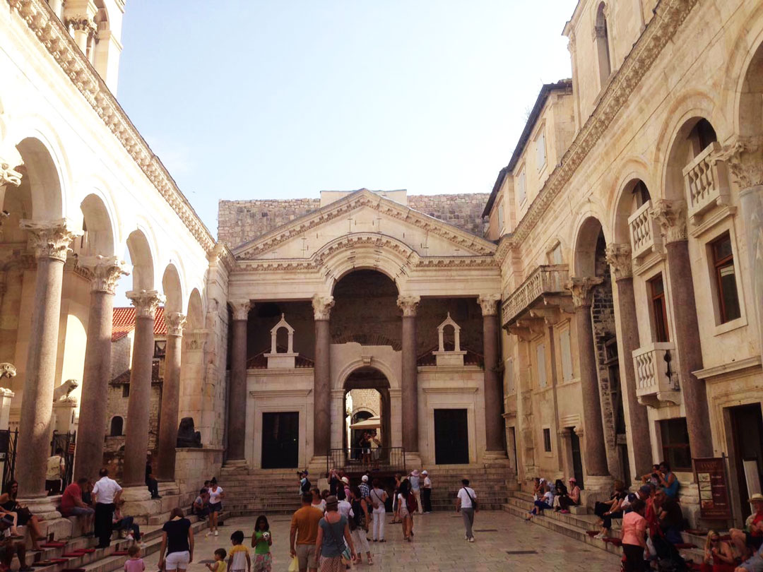 The inside courtyard of Diocletian's Palace