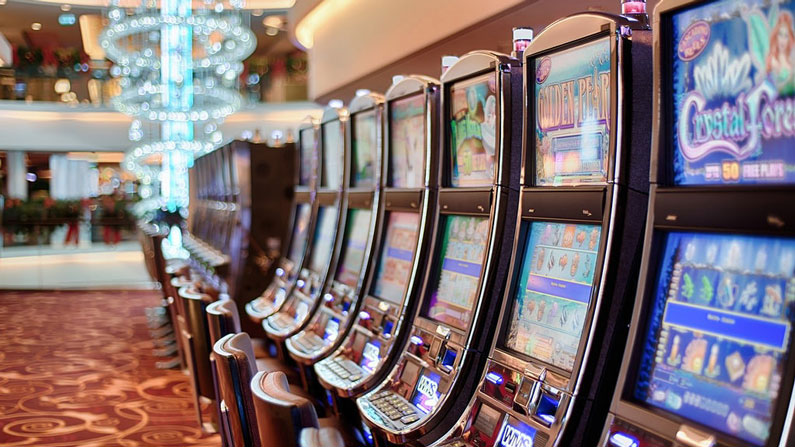 Machine slots in a casino