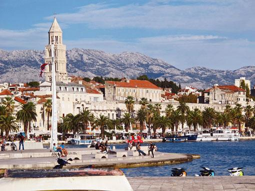 A boardwalk in Split