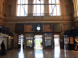 The interior of the railway station