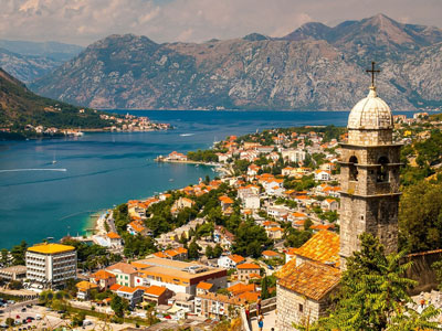 Panoramic view of the Kotor Bay