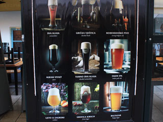 Photo of a beer list