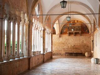 The atrium of a palace