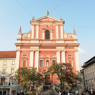Franciscan Church of the Annunciation on Prešeren Square