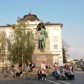 Prešeren Monument on Prešeren Square