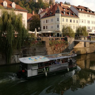 A boat on Ljubljanica river