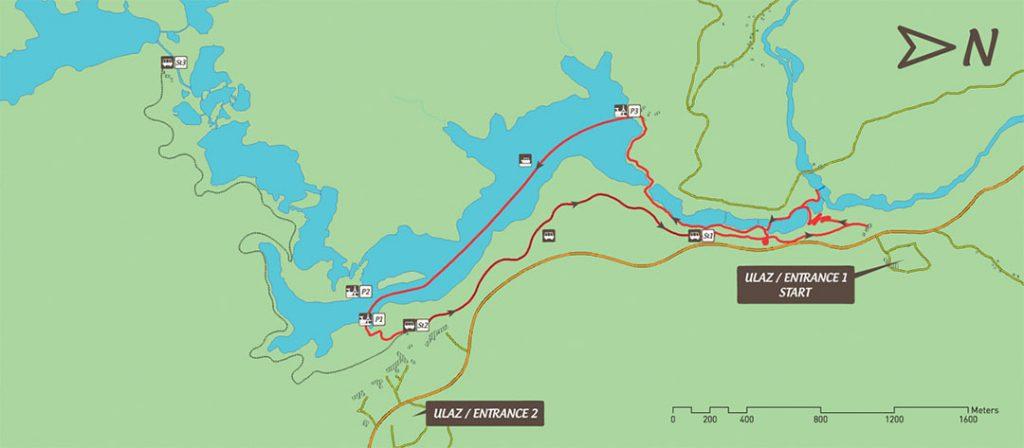 Parque Nacional dos Lagos Plitvice, rota B