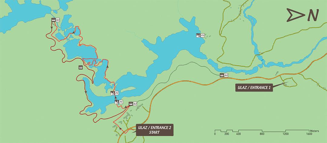 Parque Nacional dos Lagos Plitvice, rota E