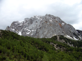 Triglav peak in Triglav National Park