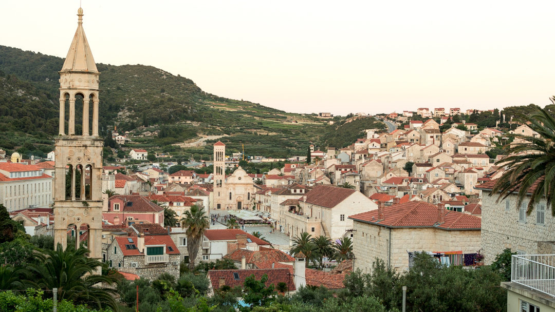 Panoramic view of the city of Hvar
