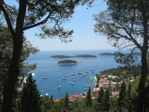 The view of Paklinski Islands from the Island of Hvar