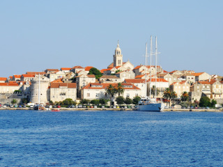 View of the City of Korčula from the sea