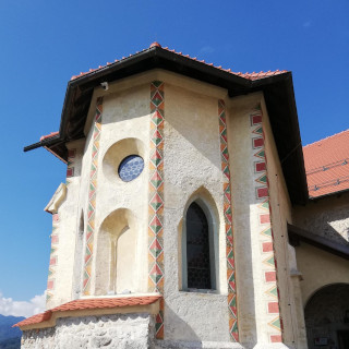 Bled Castle chapel with the little round window