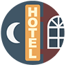 Clipart image of a hotel sign