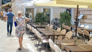 Restaurant's terrace with many chairs