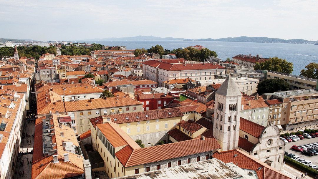 Panoramic view of the city of Zadar