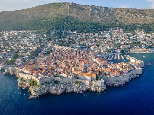 Vista aérea de Dubrovnik