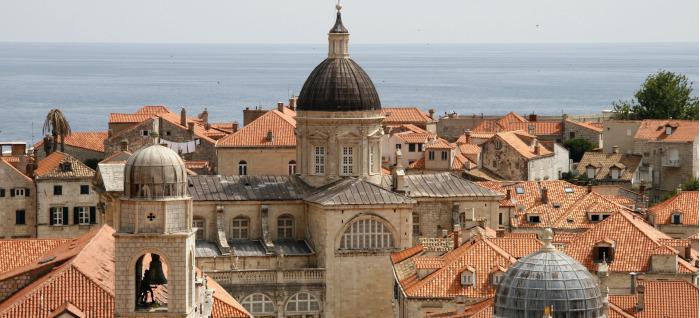 Os telhados vermelhos de Dubrovnik