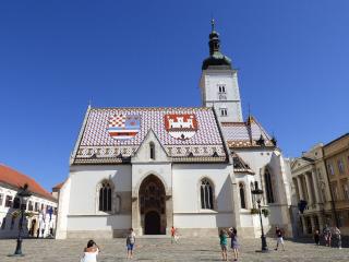 Igreja de São Marcos com telhado colorido