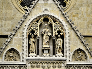 Statues on the Zagreb's Cathedral