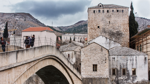Bridge made of stone in Mostar