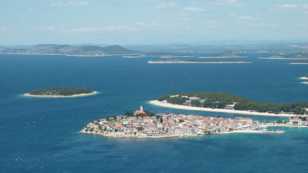 Panoramic view of the island of Primošten