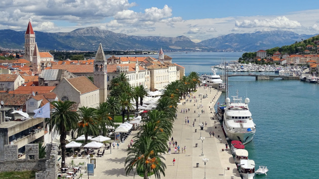 Aerial view of Trogir