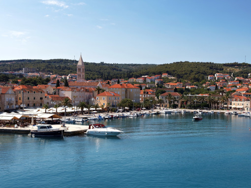 Panoramical view of the Island of Hvar