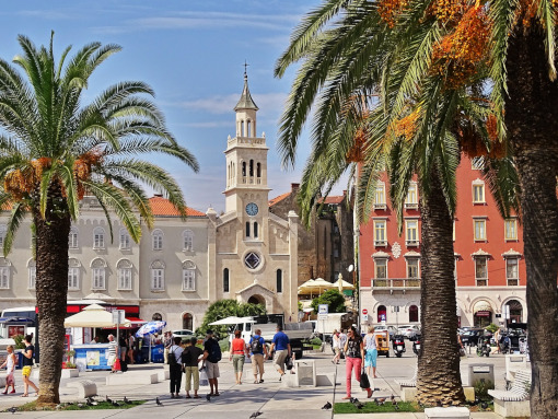 The boardwalk in Split