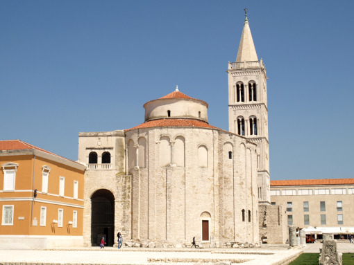 A stone church in Zadar