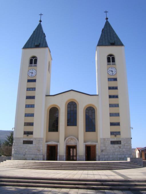 A igreja de São Tiago em Medjugorje