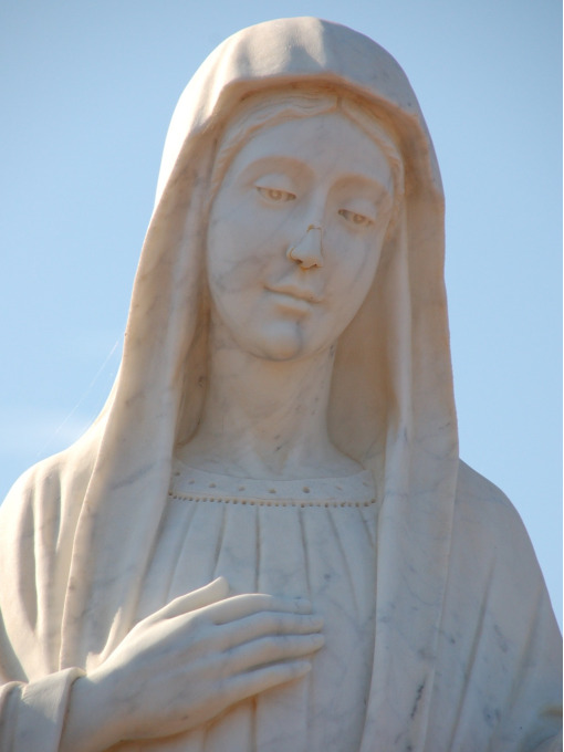 The statue of Our Lady of Medjugorje