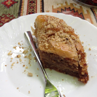 Traditional baklava cake