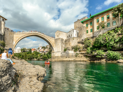 The iconic stone-made bridge in Mostar