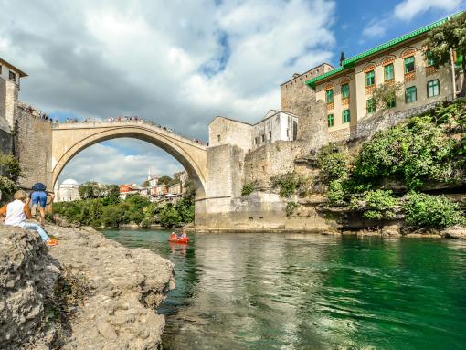 A ponte de pedra em Mostar