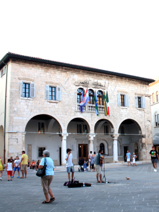 The view of the main square in Pula