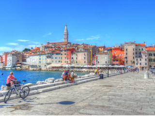 Colorful houses in Rovinj