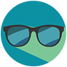 Clipart image of sunglasses