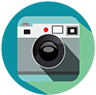 Clipart image of a camera
