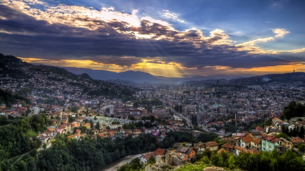 Panoramic view of the city of Sarajevo