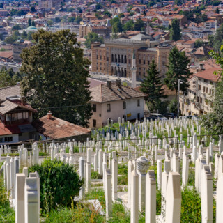 Lápides no cemitério muçulmano