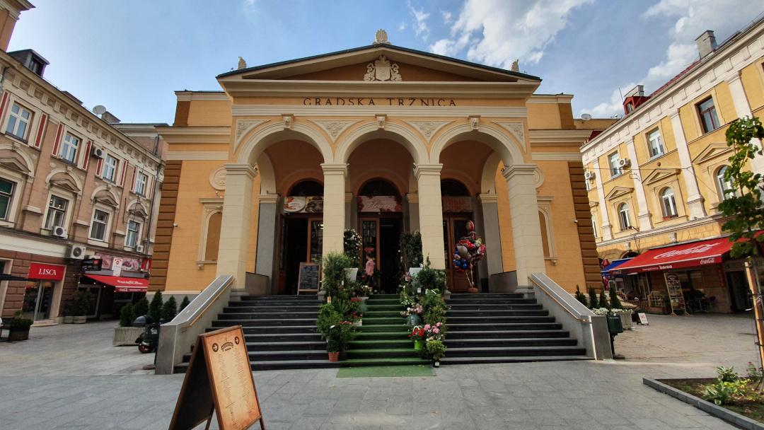 O edifício histórico que abriga o mercado