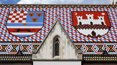 The roof of the St. Mark's Church in Zagreb