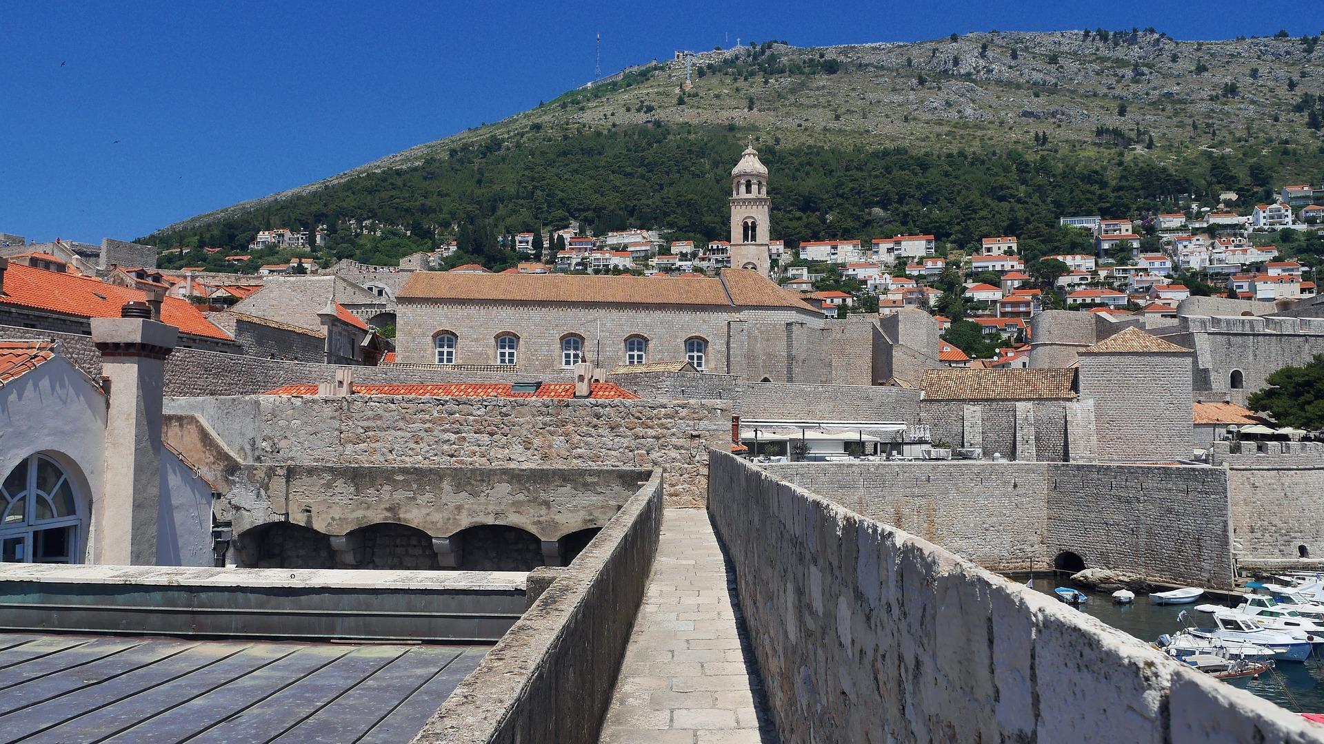 As muralhas de Dubrovnik