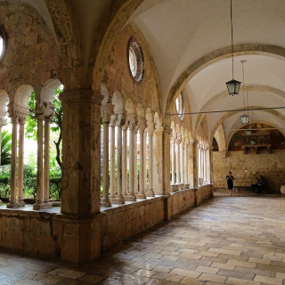 Arcades of the old monastery