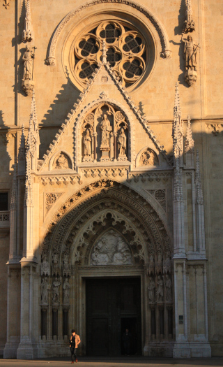 Entrance to the church with sculptured decoration