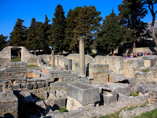 The remains of the ancient Roman houses
