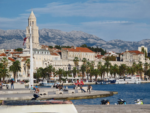 Panoramic view of Split waterfront