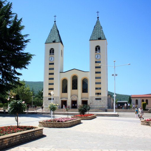 Church with two bell towers in the front